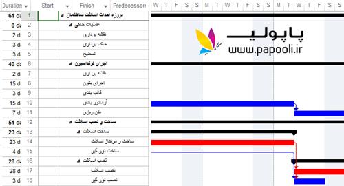 دانلود فایل آماده msp با موضوع اسکلت بندی ساختمان + آموزش